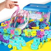 塑料房子拼插积木玩具3-6周岁1-2-4儿童男孩女孩宝宝创意拼装方块