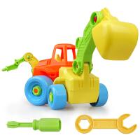 拆装玩具 拆装工程车 儿童拼装动手螺母组合益智玩具可拆卸