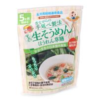 日本原产 妙谷菠菜味手延 半生素面135g 婴幼儿宝宝辅食面条