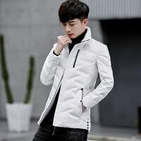 2018新款冬季轻薄款男羽绒服韩版修身潮流帅气短款上衣羽绒衣外套