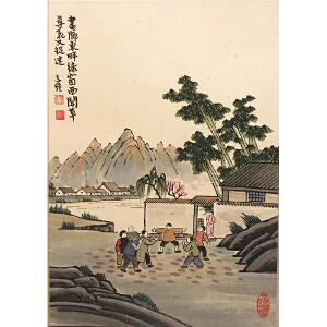 丰子恺《人物44》著名画家