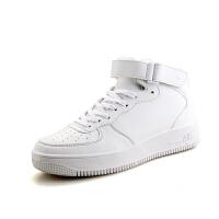 DAZED CONFUSED 高帮板鞋男秋冬季新款休闲鞋潮流时尚白色运动篮球鞋厚底增高男鞋