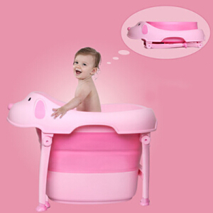 物有物语 洗澡桶 大号宝宝浴桶婴儿泡澡桶儿童洗澡盆浴盆可折叠便携式婴幼儿加厚材质洗澡桶