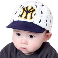 新生婴儿帽子秋太阳帽棒球帽男女遮阳帽儿童防晒宝宝帽子春秋潮