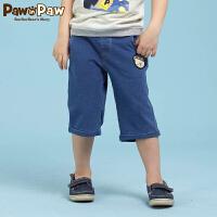 【3件2折 到手价:60】Pawinpaw宝英宝卡通小熊童装儿童裤子夏季男童休闲运动五分裤中裤
