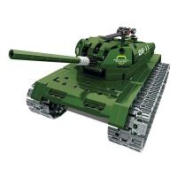 兼容乐高积木军事坦克拼装组装儿童玩具男孩益智10-12岁汽车模型