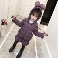 女童棉衣冬装2018新款儿童洋气羽绒中长宝宝加厚女孩棉袄外套