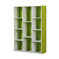 [当当自营]慧乐家 书柜书架 鲁比克十一格组合储物柜 简易展示柜 绿白色 11107-2