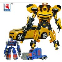 变形玩具 超变金刚4 大黄蜂 擎天柱 声光机器人汽车男孩礼物