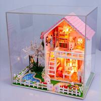 仿真房子模型生日礼物 女孩玩具儿童女童过家家木质手工娃娃屋