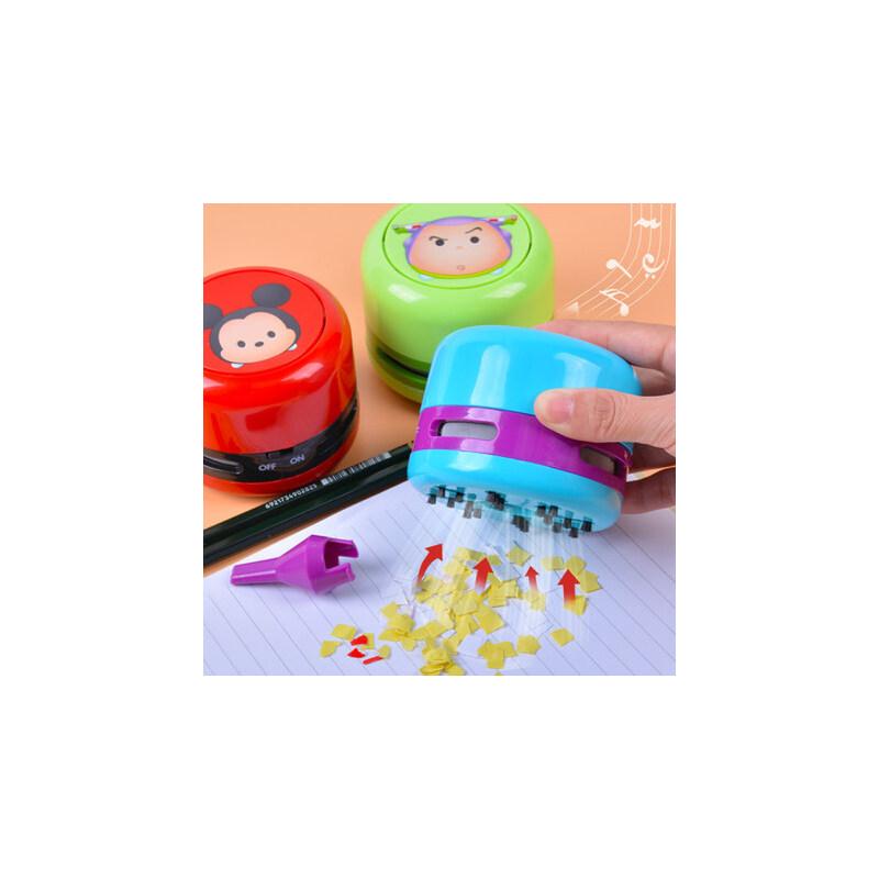 迪士尼桌面吸尘器便携学生电动儿童蓝牙玩具机器人扫地机usb可充 桌面清洁器蓝牙音箱 冰雪奇缘米奇巴斯光年