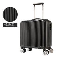 行李拉箱手拉箱18寸小型行李箱男女旅行箱迷你登机箱万向轮小型拉杆箱18寸男女韩版小清新密码旅行箱子 18寸