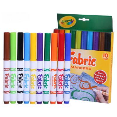 Crayola 绘儿乐 10色织物上色水笔 58-8623【当当自营】美国儿童绘画品牌  绘本绘画水彩笔