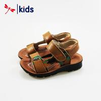 红蜻蜓男童凉鞋夏季新品真皮沙滩鞋休闲舒适儿童鞋中童防滑鞋子