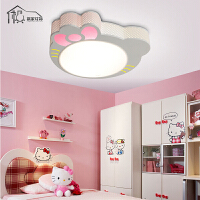 祺家儿童灯LED现代简约吸顶灯具可爱卡通猫咪儿童卧室灯具 kitty猫灯饰 蘑菇灯KX08