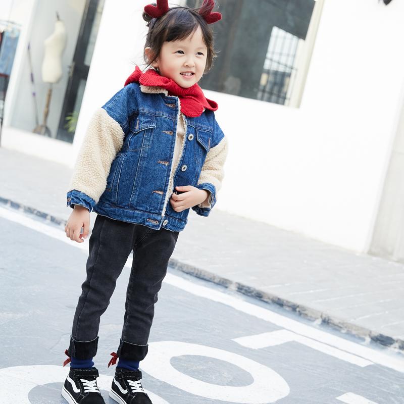 男女童装外套冬季新款加绒加厚牛仔服羊羔绒袖子百搭儿童上衣 发货周期:一般在付款后2-90天左右发货,具体发货时间请以与客服协商的时间为准