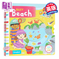 【中商原版】Busy Books:Busy Beach繁忙沙滩 纸板书英文原版