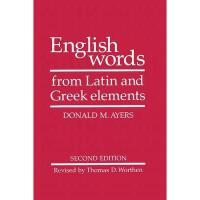 【预订】English Words from Latin and Greek Elements