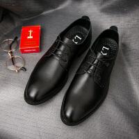 CUM 潮牌男士皮鞋商务休闲皮鞋系带英伦正装男鞋冬季小皮鞋