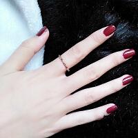 20180803063109335精致彩金细戒指女饰品简约学生清新韩国镀18k玫瑰金钛钢