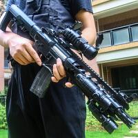 可发射男儿童玩具枪 电动连发*M4绝地模型求生M416抢98k