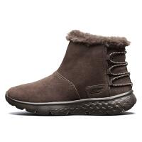 【*注意鞋码对应内长】Skechers斯凯奇保暖反毛皮短靴 舒适一脚蹬女短筒雪地靴 14404