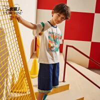 【2件3折到手价:49.5元】小虎宝儿男童t恤短袖纯棉洋气韩版上衣儿童2020年夏装新款中大童
