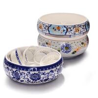 茶洗笔洗水洗茶碗 大号功夫茶具配件套装 陶瓷茶盘茶道