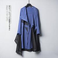 春季时尚个性潮流宽松休闲长袖外套女X0/2/77