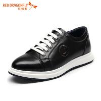 红蜻蜓男鞋休闲皮鞋秋冬休闲鞋子男板鞋WTA6616