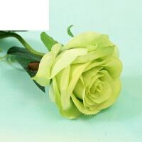 单支高仿真假花玫瑰花绢花婚庆客厅茶几装饰花束假花摆设花艺