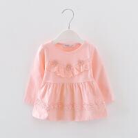 婴儿童长袖T恤春装女宝宝秋衣上衣体恤秋款女童打底衫公主