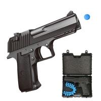 合金迷你儿童玩具枪 可发射软弹仿真军事模型枪礼盒套装儿童节礼物 软弹合金模型枪 SYA023A(款式随机)