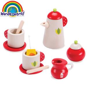 [当当自营]泰国Wonderworld 茶具组合 儿童角色扮演 过家家 厨房玩具 木质玩具