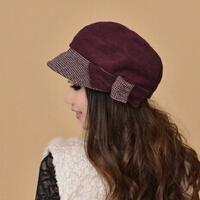秋冬新款优雅时尚盆帽贝雷帽  淑女礼帽鸭舌帽  羊毛呢帽