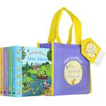 英文原版 Axel Scheffler's 4册 礼品手提袋纸板书 咕噜牛幼儿启蒙认知英语学习 Axel Scheff
