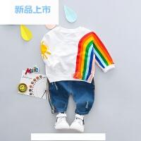 小男孩衣服装1婴儿童装2男宝宝春秋套装3岁男童春装4韩版春季纯棉