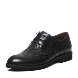 Teenmix/天美意2017夏季专柜同款牛皮布洛克鞋男正装鞋男鞋3CQ02BM7