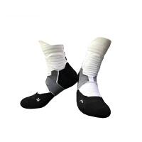 新款户外运动袜子毛巾底跑步袜男中高筒毛巾袜吸汗短袜加厚篮球袜