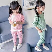 童装女童春装套装2018新款3休闲4运动5/6/7岁儿童两件套宝宝潮装