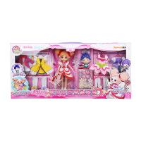 维莱 乐吉儿小花仙娃娃套装大礼盒夏安安变身过家家换装女孩玩具 A026