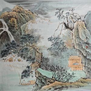 陈玉圃 中国美术家协会会员 国画《山居图》