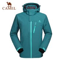 camel骆驼户外滑雪服 男款秋冬时尚外套防风帽保暖滑雪服
