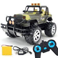 超大号儿童遥控车无线可充电仿真越野车防撞耐摔男孩子电动玩具车 配送1组电池+螺丝刀