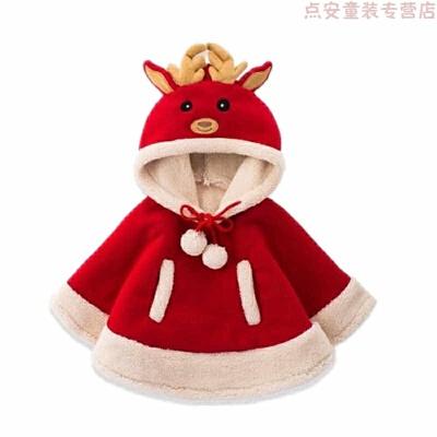 圣诞节儿童服装女童斗篷宝宝圣诞节衣服套装女孩可爱衣服儿童演出 红色 发货周期:一般在付款后2-90天左右发货,具体发货时间请以与客服协商的时间为准