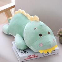 可爱小恐龙毛绒玩具女生超萌搞怪睡觉抱枕公仔娃娃长条枕玩偶