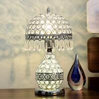 台灯卧室床头灯欧式水晶婚庆创意简约现代时尚温馨可调光遥控