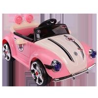 创意新款可坐人儿童电动车儿童四轮电动宝宝车子1-3小汽车4-5岁可坐人充电遥控玩具车男女孩 粉色 单电单驱 硬座 无遥