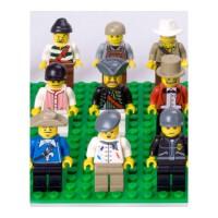 儿童小颗粒拼装拼插小人偶角色公仔兼容乐高积木玩具卡通模型配件儿童节礼物 +16*32地板