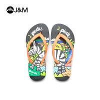 快乐玛丽夏季卡通平底儿童拖时尚夹趾儿童鞋沙滩凉拖鞋
